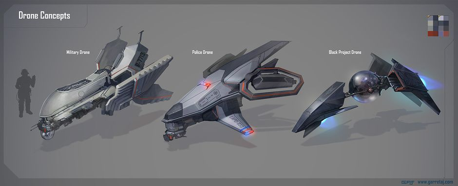 Drone Concepts By Garret Arney Johnson