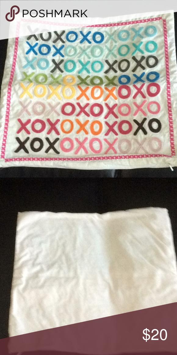 Pottery Barn Teen Pillow Case Pottery Barn Teen XOXO pillow case 17x17 with top ...