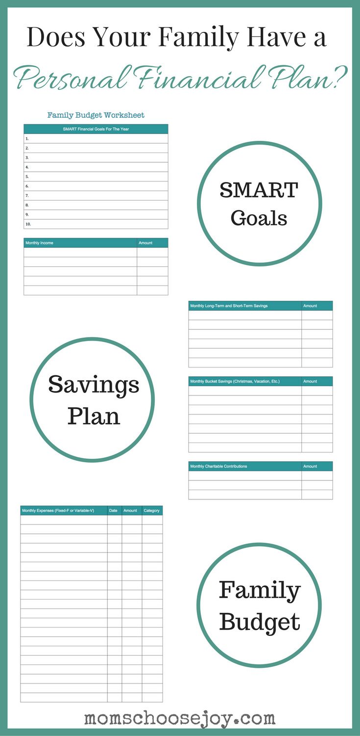 how to create your family s personal financial plan the pinterest