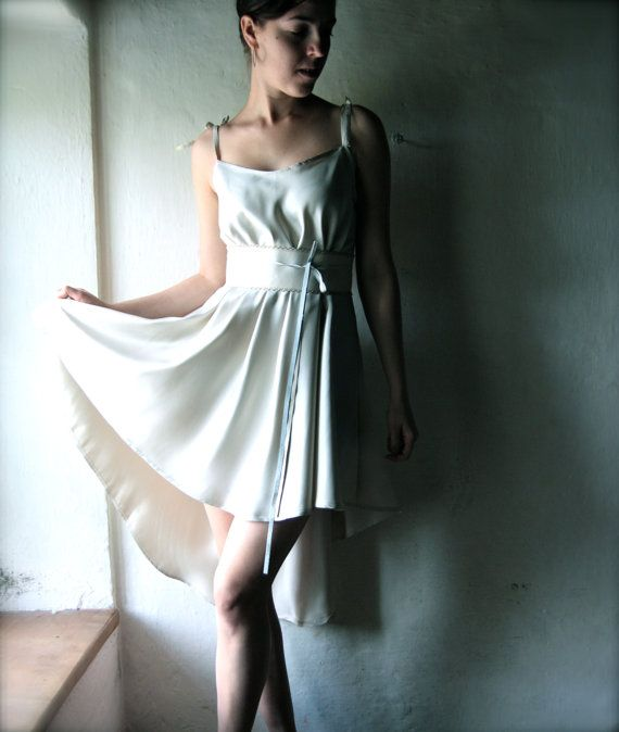 Ivory Silk Formal Dress Short Plus