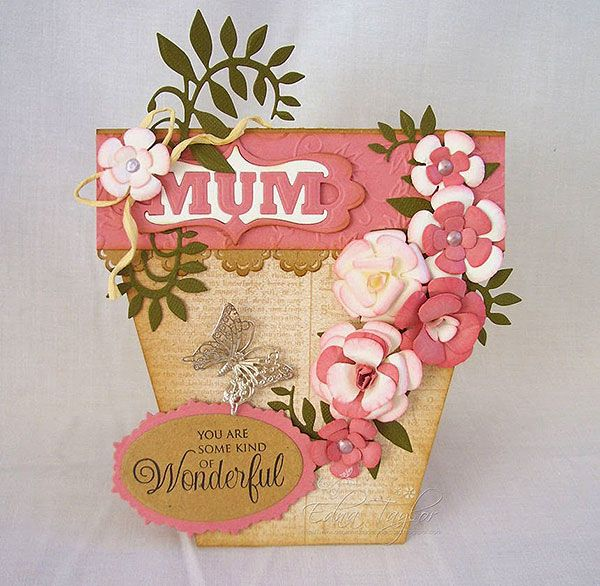 Blog tonic: Bellus Buttercup - a flower pot card from Edna