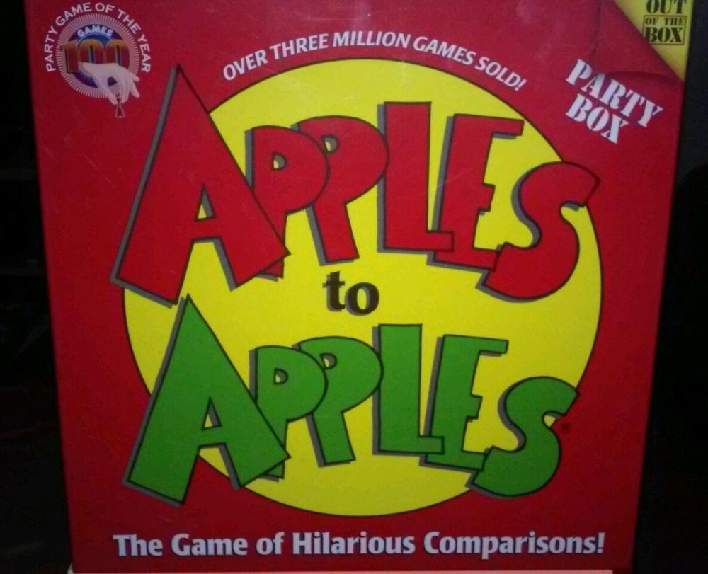 Apples to apples party box card game complete over cards mattel