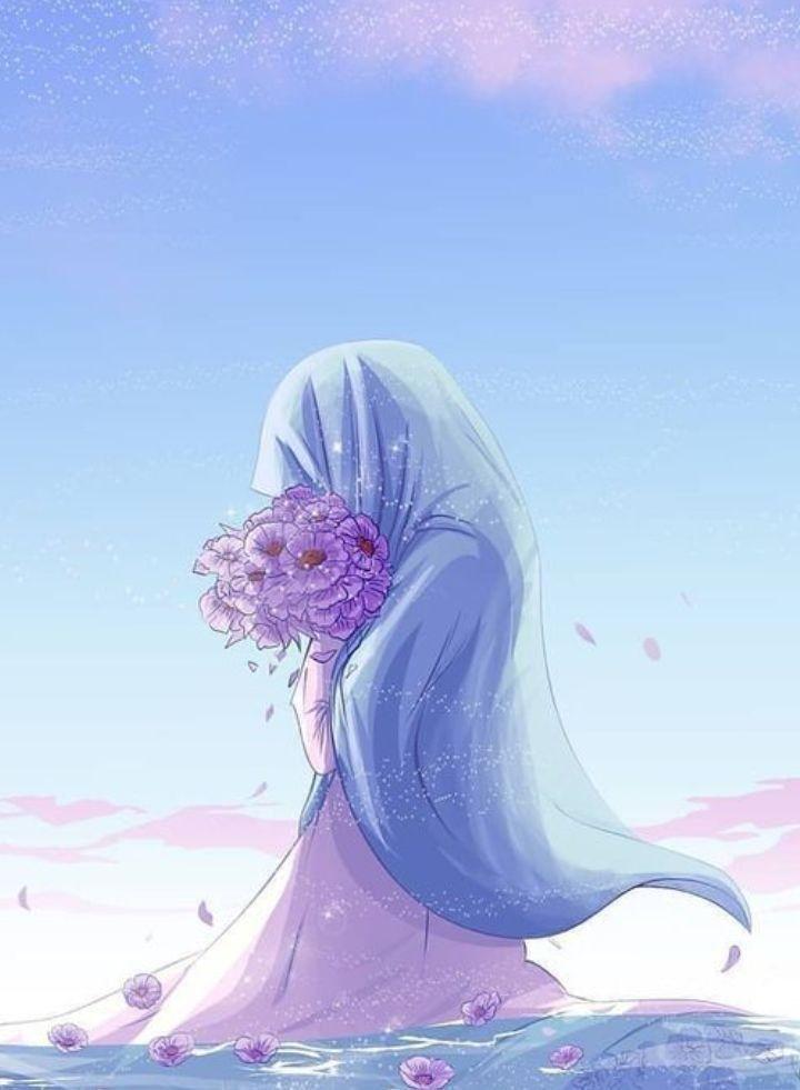 Muslim Wallpaper In 2020 Islamic Artwork Anime Muslimah Hijab Cartoon