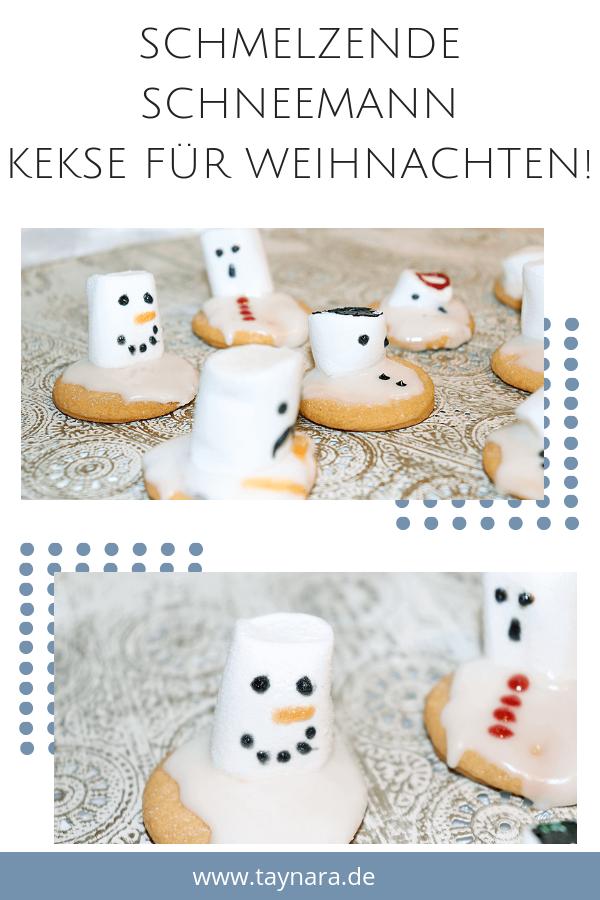Einfaches Rezept!: Schmelzende Schneemann Kekse für die ganze Familie! - Green Miracle #kekseweihnachtenkinder