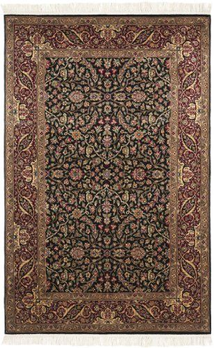 Safavieh Royal Kerman Collection Rk31a Hand Knotted Black And Red Wool Area Runner 2 Feet 6 Inch By 12 Feet By Saf Traditional Rugs Shades Of Red Area Rug Pad