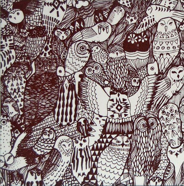 owl pattern sofia falcon design