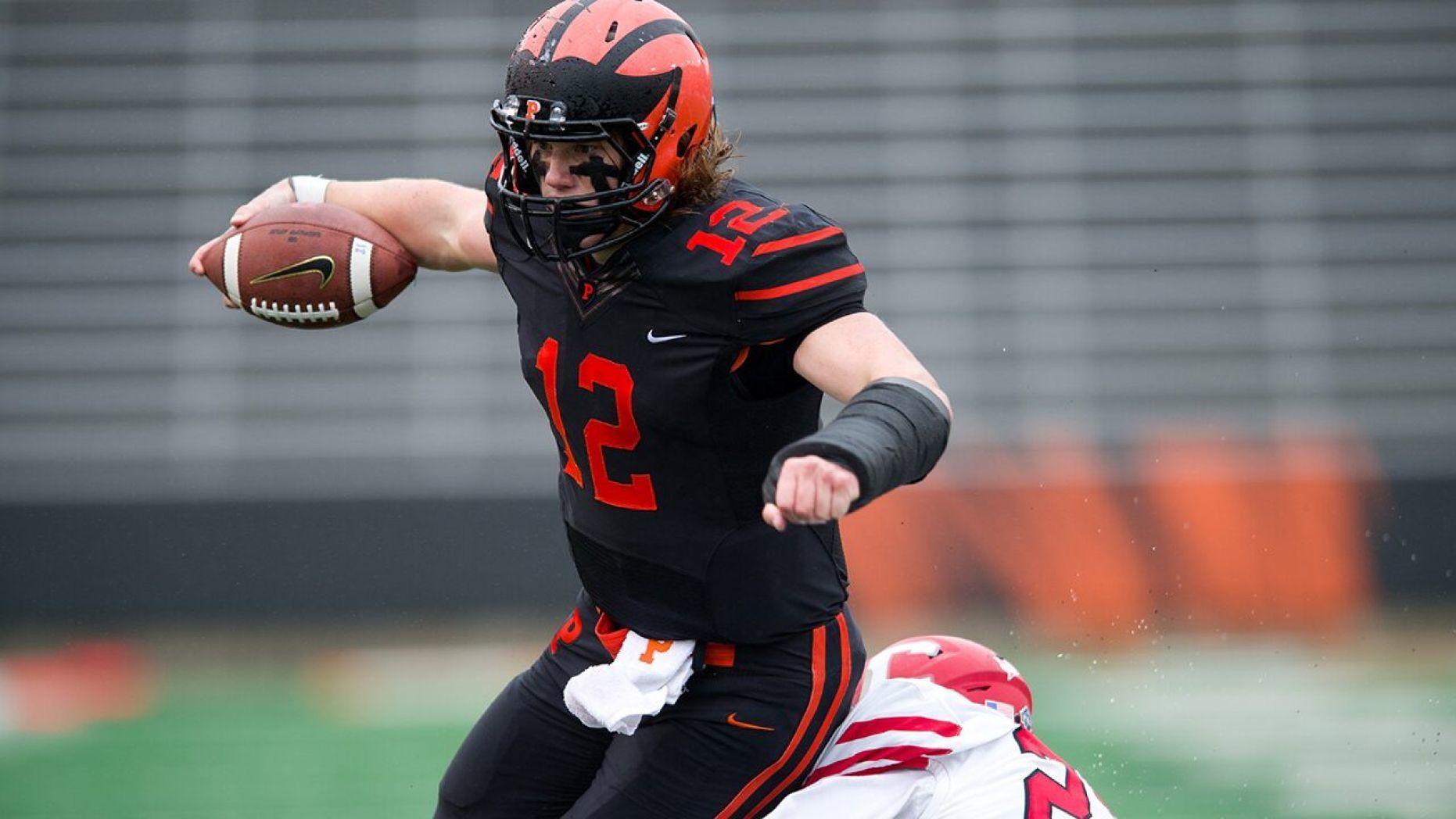 Ivy League football star eschewing stability for longshot