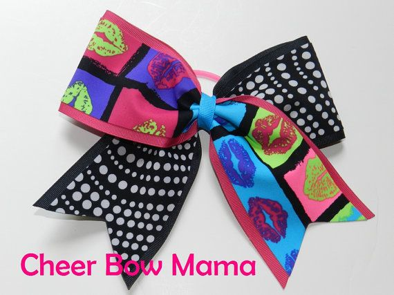 f34896fdaba1 Kisses & Dots Cheer Bow by Cheer Bow Mama   Cheerleading   Cheer ...