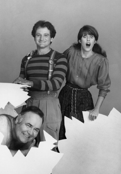 Robin Williams, Pam Dawber and Jonathan Winters at event of Mork & Mindy (1978)