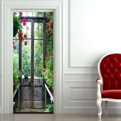 Sticker porte le jardin 204 x 83 cm made in aix en for Le jardin des 5 sens aix en provence