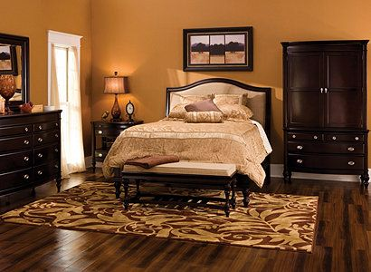 Armoires are a great way to add closet space to your bedroom, or to hide your tv and electronic components. #RaymourandFlanigan   Transitional home decor ...