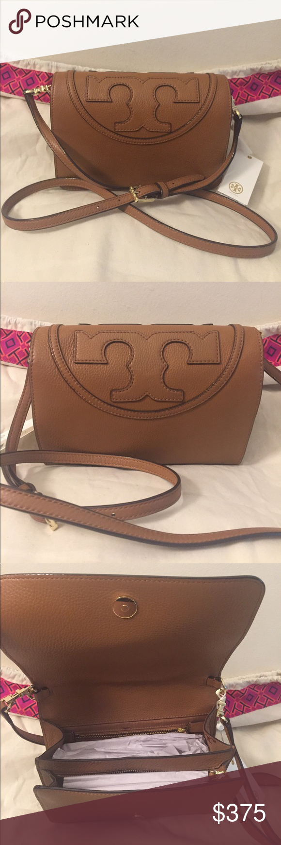 56acbf1e64b 🆕Tory Burch All T - Combo Cross-Body Color Bark💕 💯 Authentic Brand New  comes with dustbag and also shopping bag!!!💕 Price Firm...Out of Stock!!!  Tory ...