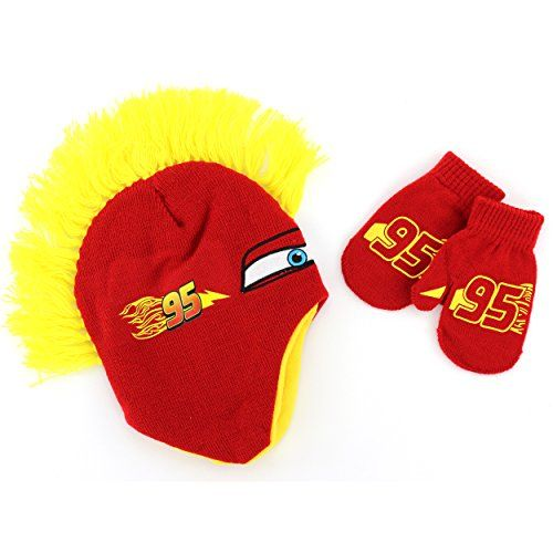 38ed92db1d0 Disney Cars Toddler Mohawk Hat with Mittens Set (Yellow) Disney http