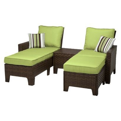 Belmont 4 Piece Brown Wicker Patio Chaise Lounge Set