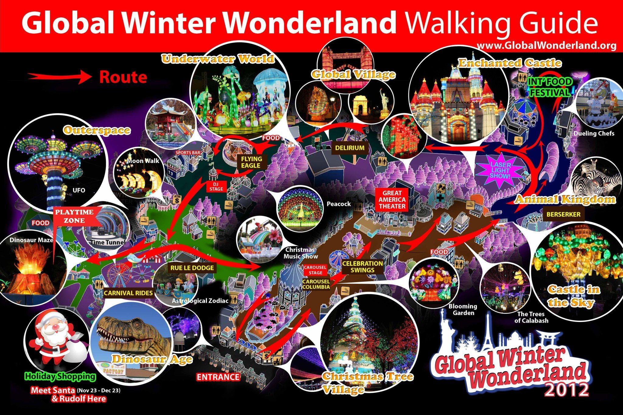 Global Winter Wonderland at Great America Santa Clara CA