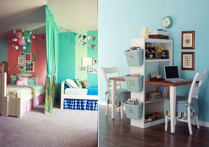 Cameretta per due: ad ognuno i suoi spazi | gigi&fra | Pinterest ...