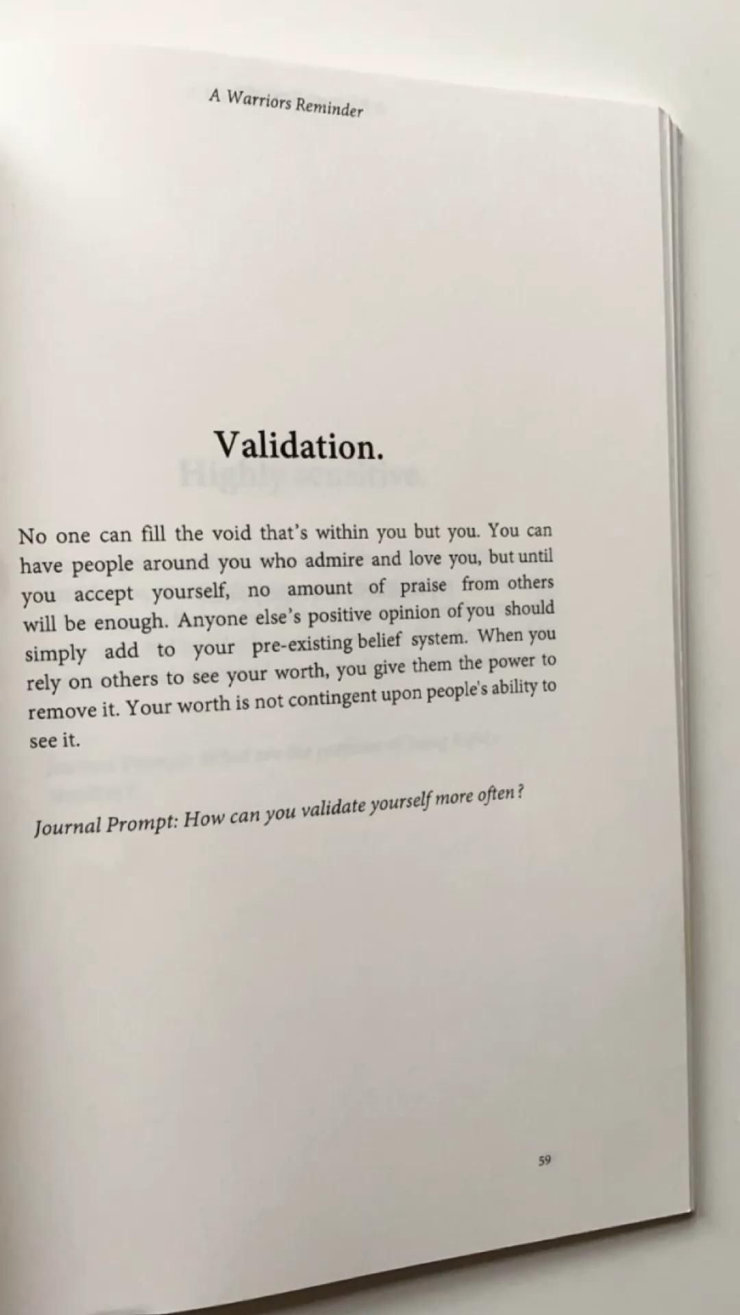 Validation - Extract from my book 'A Warriors Reminder' ⚡️