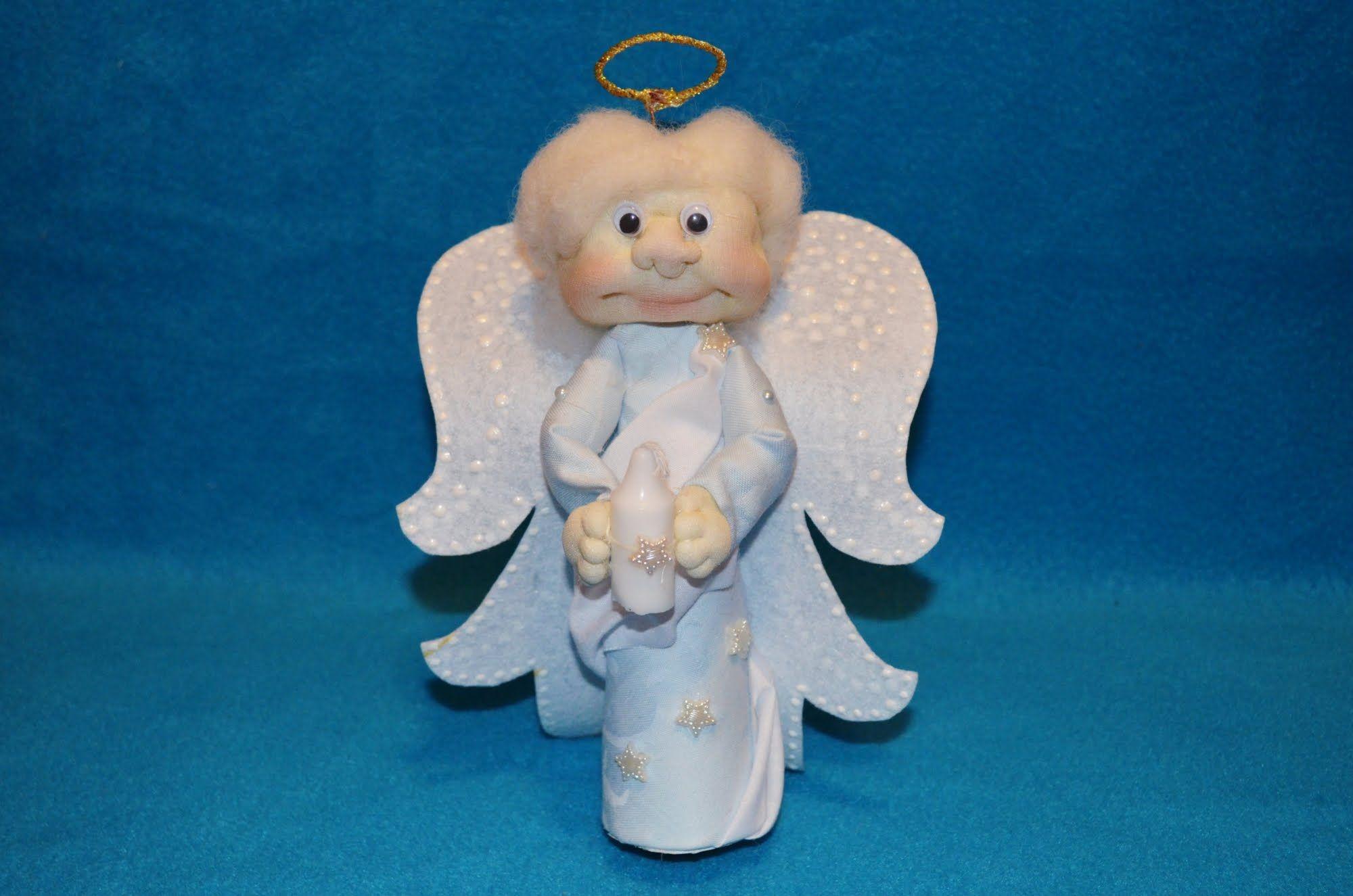 Ангелочки из капрона своими руками