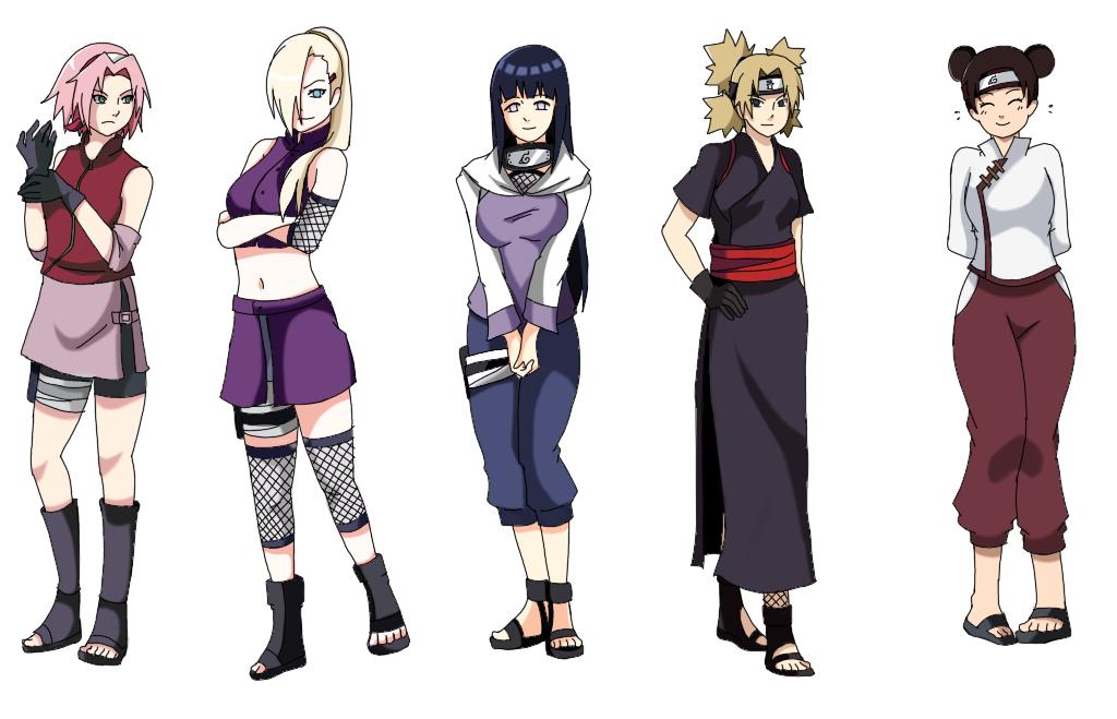 Naruto shippuden girls in black dresses — 7