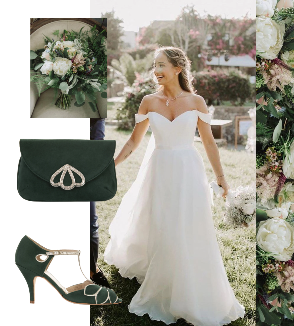How To Style A Forest Green Wedding Forest Green Wedding Forest Green Dresses Forest Green [ 1108 x 1000 Pixel ]