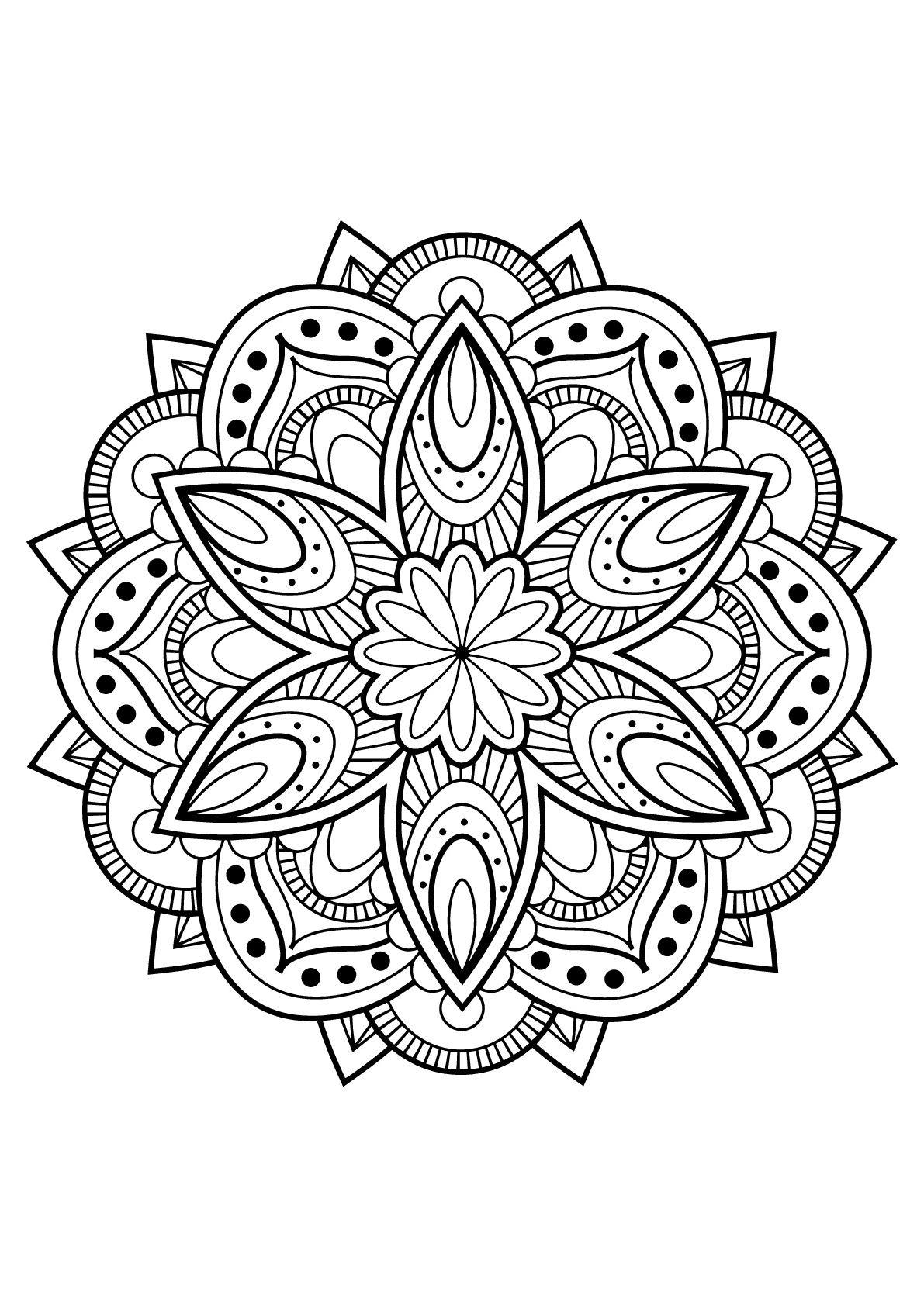 11 Qualité Coloriage Mandala Difficile Pictures | Coloriage mandala, Mandala à imprimer, Livre ...