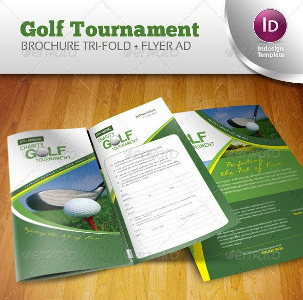 14 Creative 3 Fold Photoshop\/Indesign Brochure Templates - golf tournament flyer template