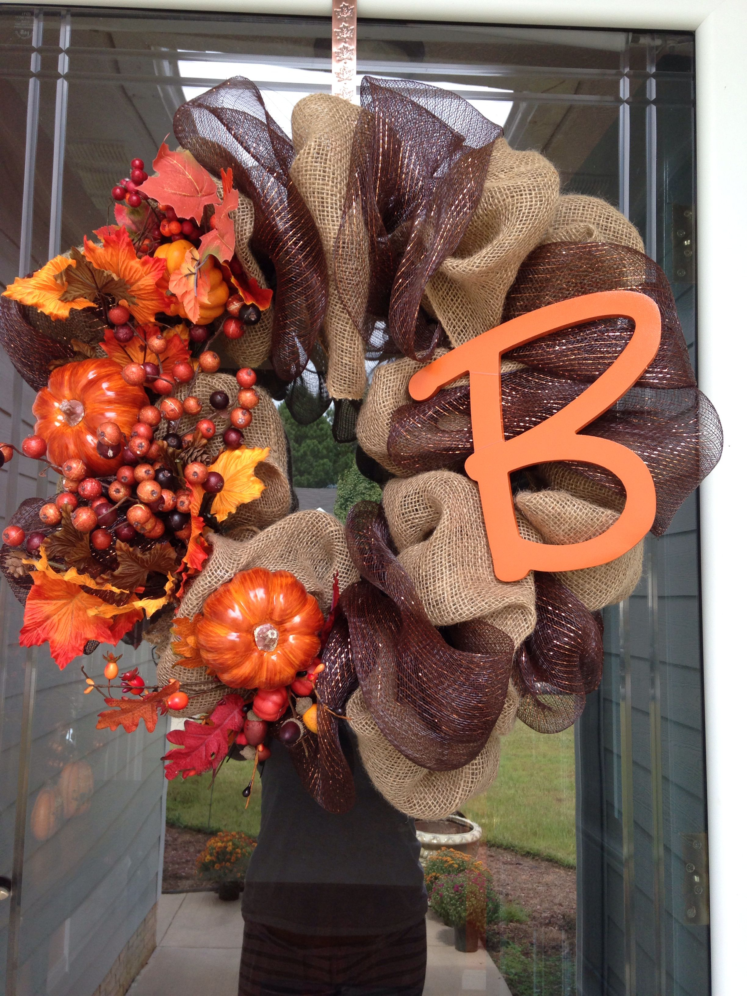 Fall wreaths! Made this one myself ) Fall crafts