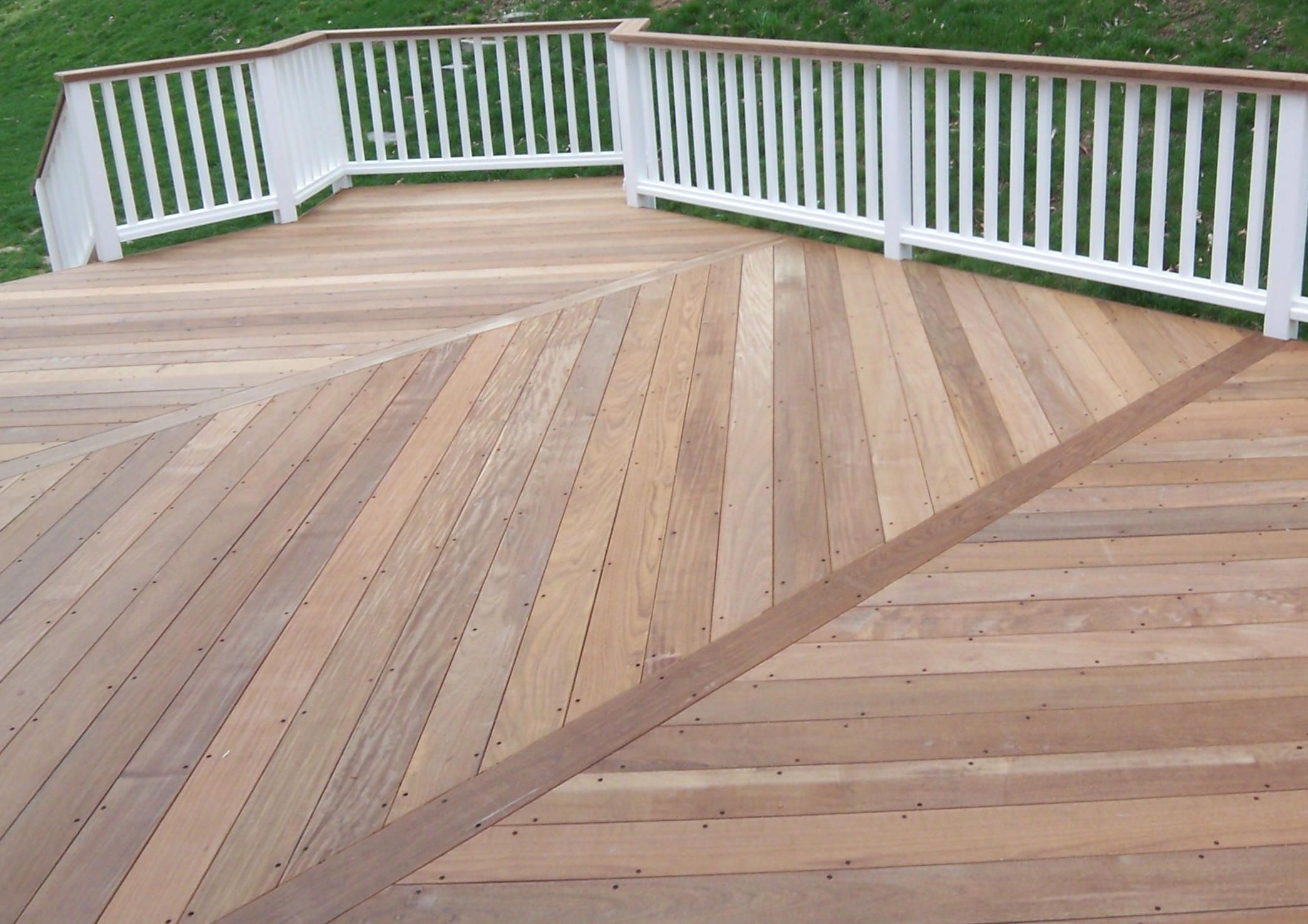 Sealing or oiling ipe decks ipe deck 3 bays herringbone for 3 bays
