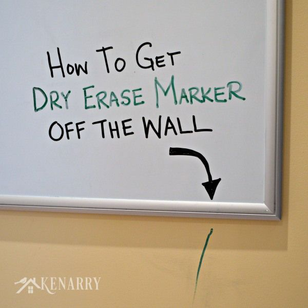 Dry Erase Marker Removal How To Get It Off Walls Easily Dry Erase Markers Dry Erase Wall Wall Stains