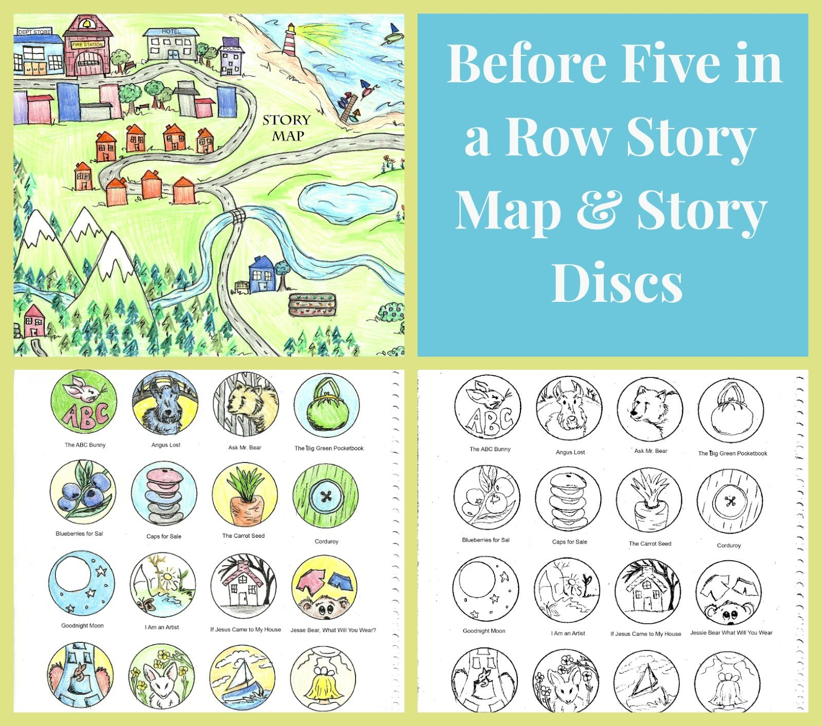 Before Five in a Row Story Map & Story Disks FREE DOWNLOADS B4FIAR ...