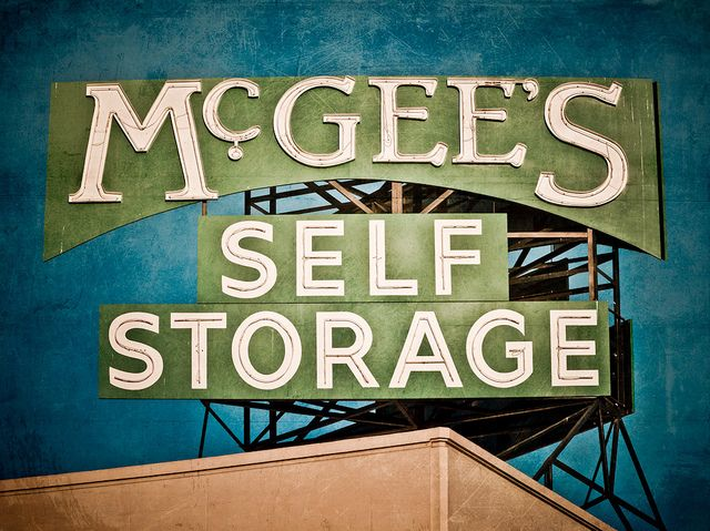 Mcgee S Self Storage Signage School Signage Vintage Signs For Sale