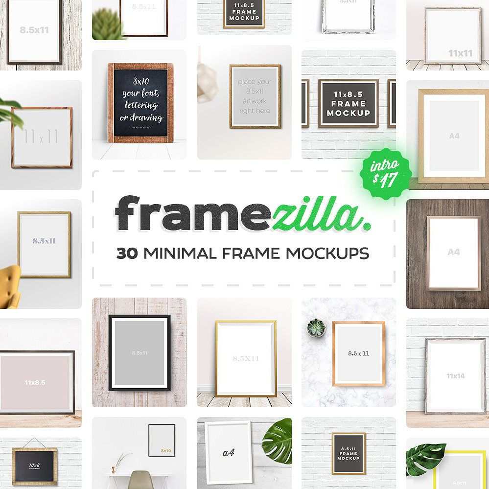 Framezilla 30 Minimal Vertical And Horizontal Frame Mockups To