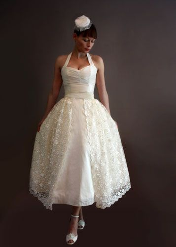 Short and Tea Length Wedding Dresses : Cute Rockabilly wedding dress ...