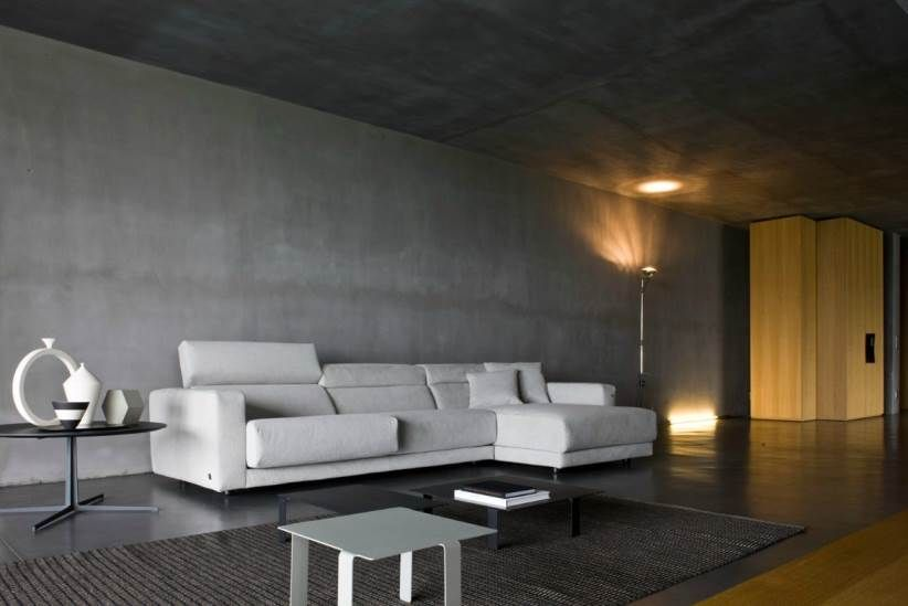 Image Result For How To Paint A Wall To Look Like Concrete Living Room Design Modern Dark Living Rooms Minimalist Living Room