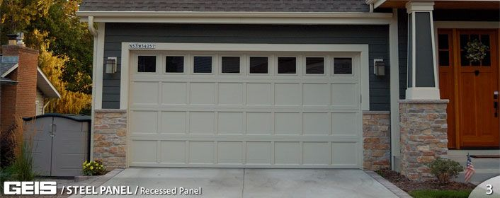 Recessed Panel Steel Panel Geis Garage Doors Milwaukee Southeastern Wisconsin S Leading Garage Do Garage Door Panels Garage Doors Garage Doors For Sale