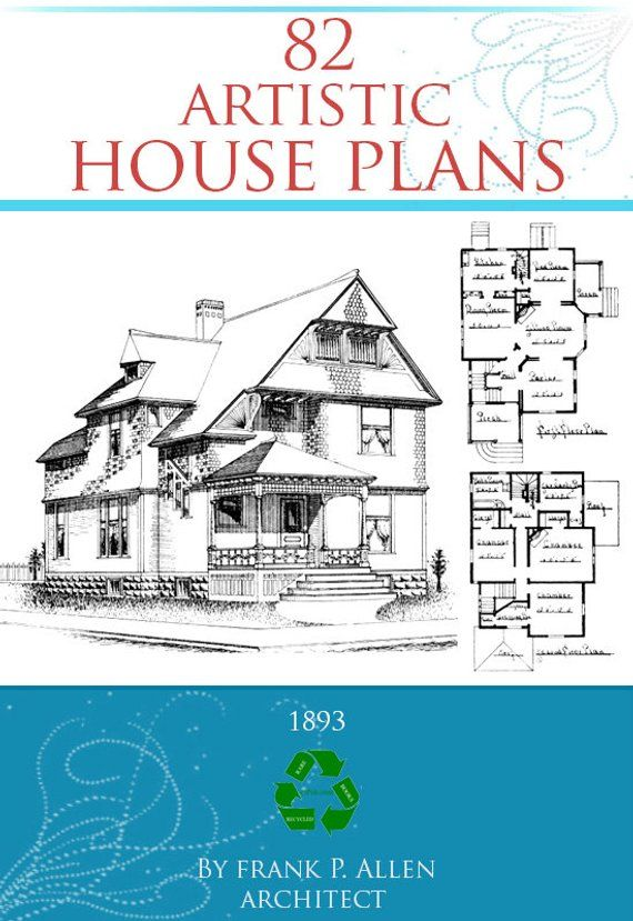 82 Artistic House Plans Rare 1893 Architectural Designs Views Etsy House Floor Plans House Plans How To Plan