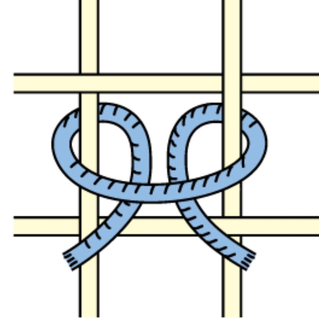 The Rya Knot Ghiordes Knot Or Turkish Knot Is A Hand