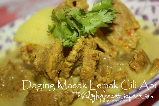 Curlybabe's Satisfaction: Daging Masak Lemak Cili Api - Negeri Sembilan  Style