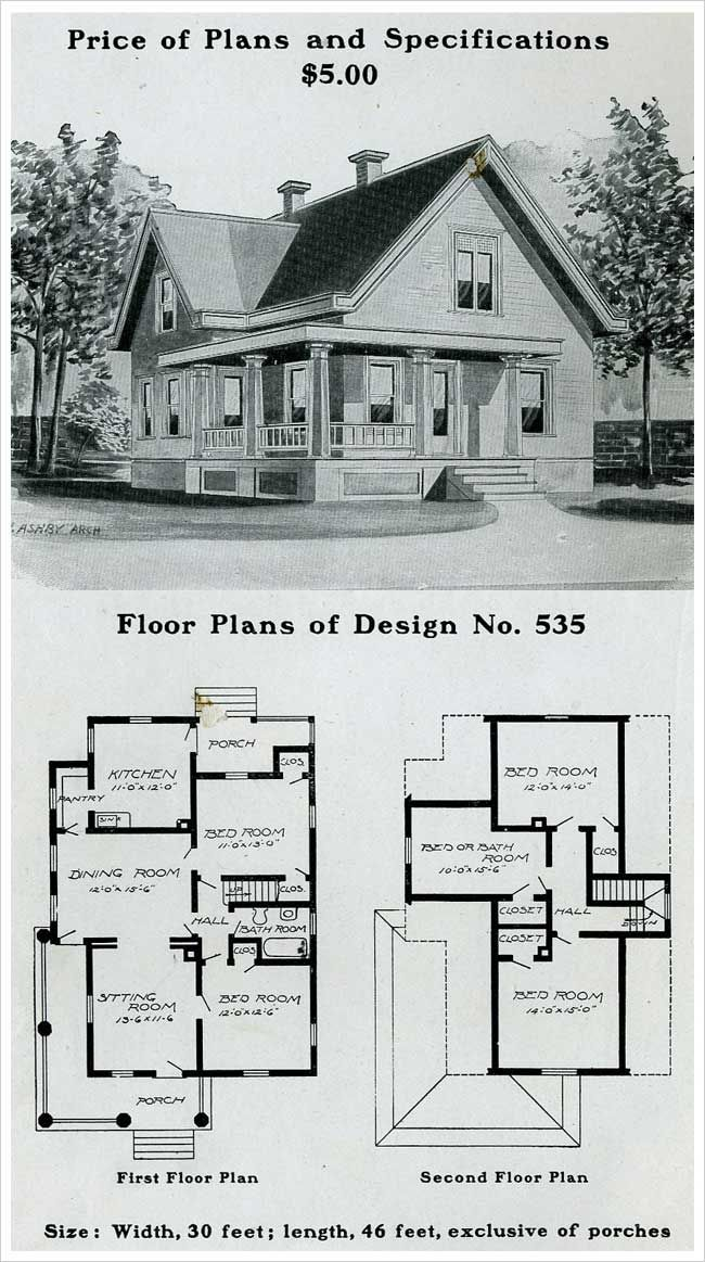 Free turn of the century house plans for Century homes floor plans