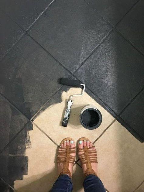 Fliesen streichen mit Kreidefarbe - MissPompadour #kücheideeneinrichtung