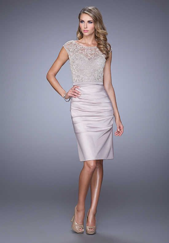 bf08088662fa La Femme Evening 21633 Champagne Mother Of The Bride Dress