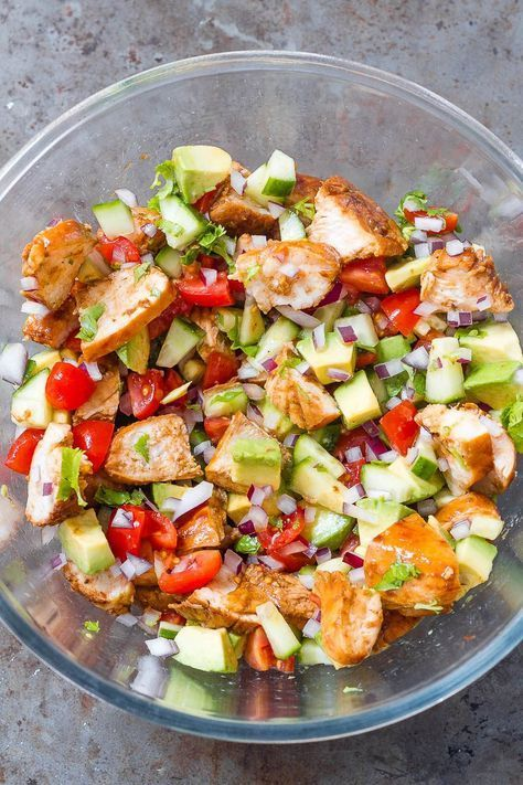 Healthy chicken salad with avocado Healthy chicken salad with avocado,