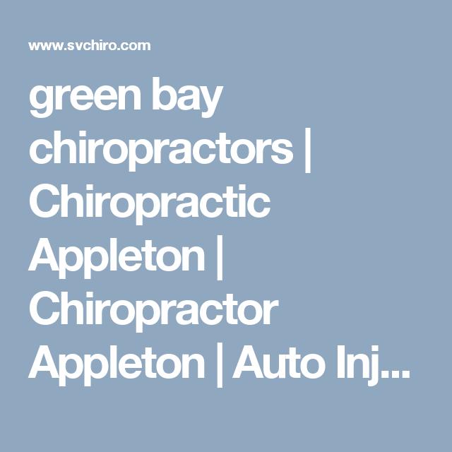 green bay chiropractors Chiropractic Appleton