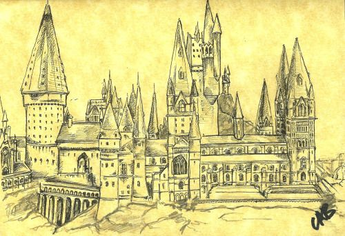 simple silhouette of hogwarts - Google Search