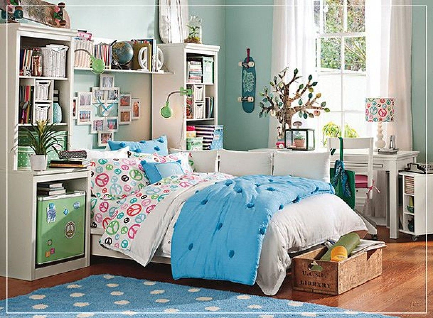 Cool Tween Bedroom Designs For Girls Nice With White Laminated Bed Frame  Bedside Table Storage Shelves