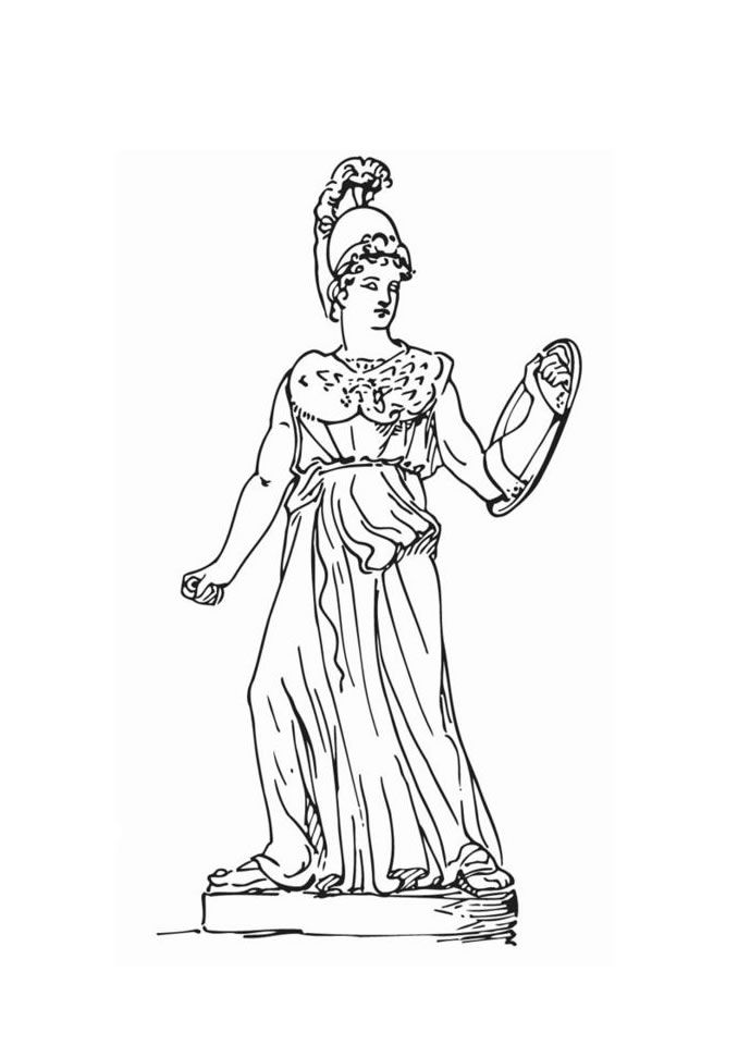 Goddess Athena Coloring Page