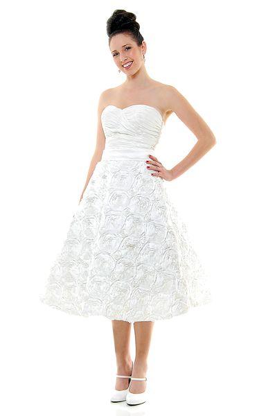 Unique Vintage | Tea length wedding dress, Tea length and Wedding dress