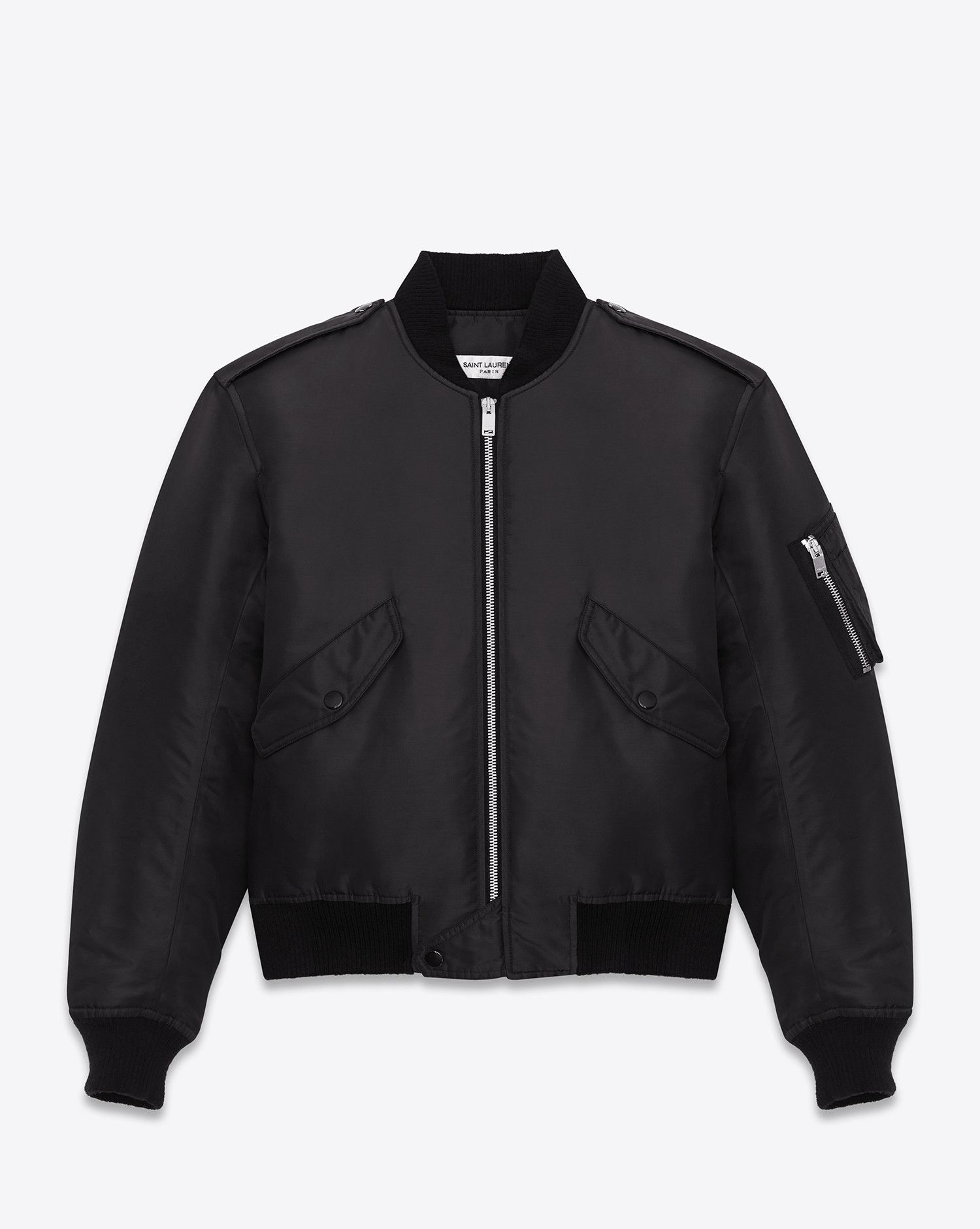 3793b5f93da Saint Laurent Classic Bomber Jacket In Black Nylon | YSL.com ...