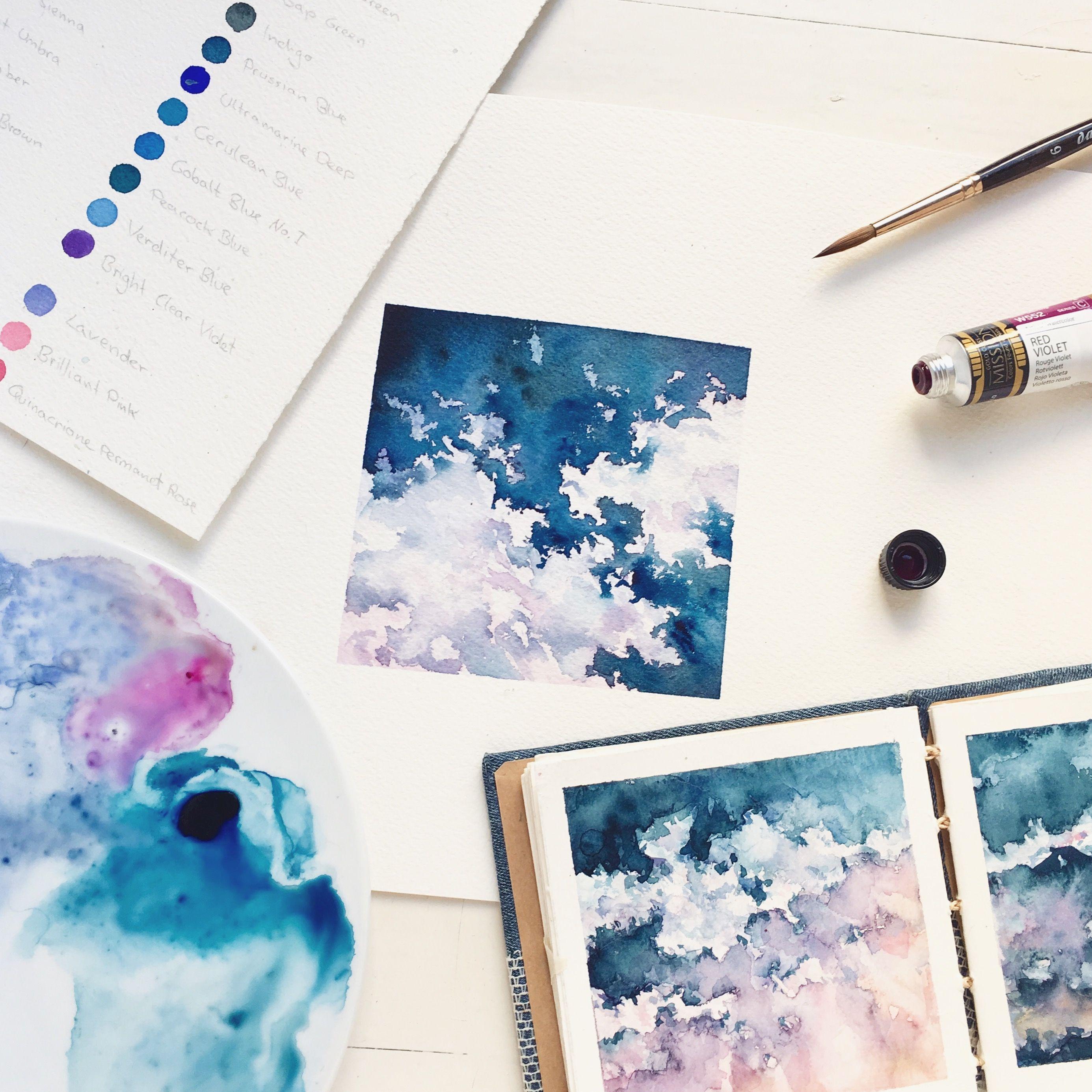 Aesthetic Sky Painting Easy