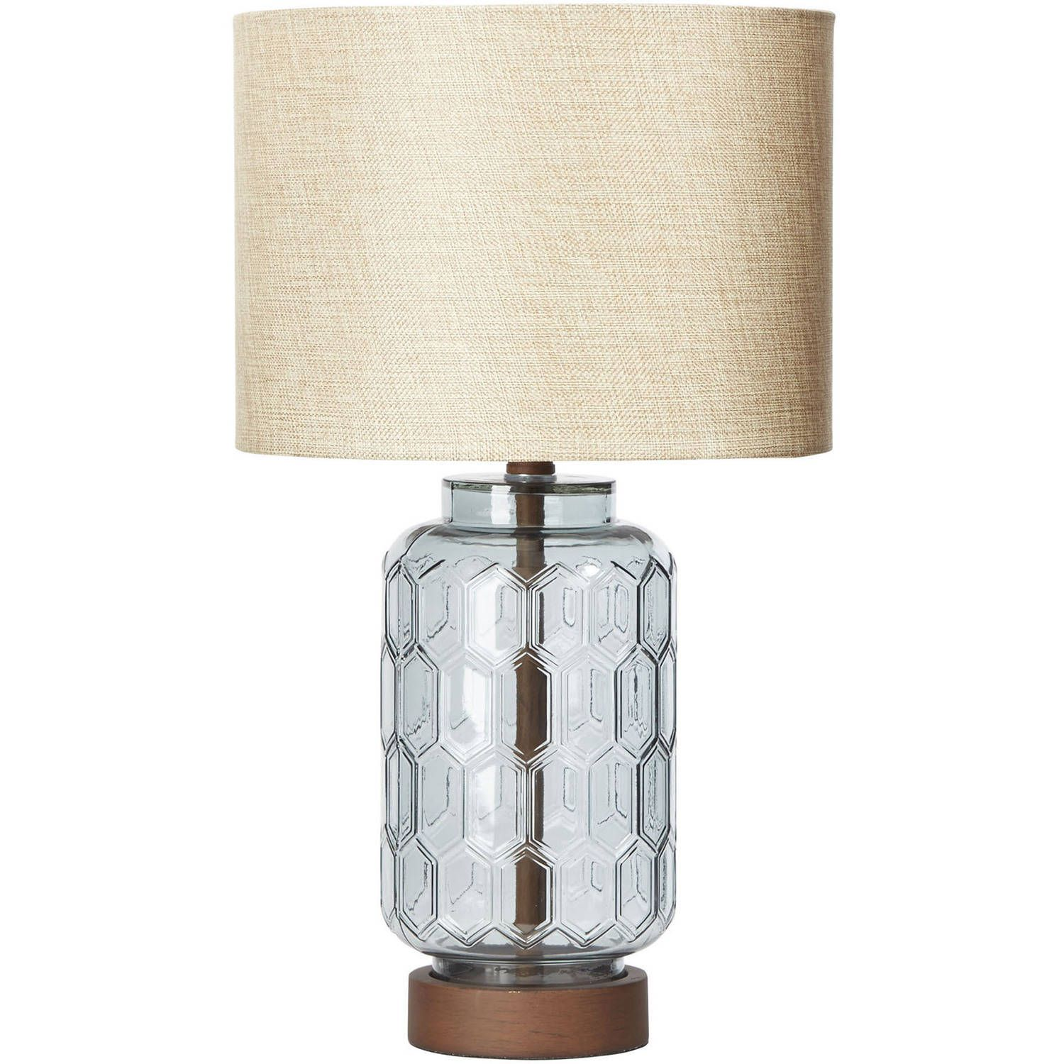 Better Homes Gardens Blue Geo Textured Glass Table Lamp
